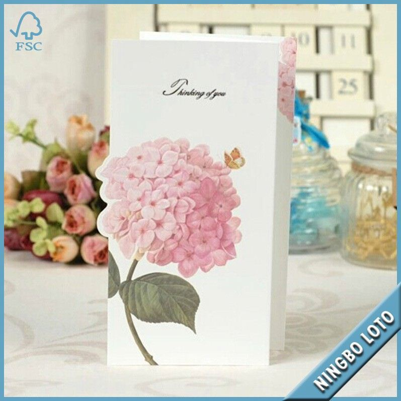 High quality best price dried flowers greeting cards