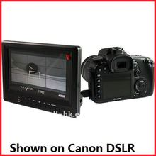 7 Inch YPbPr ,HDMI input and HDMI output Monitors show on Canon DSLR (GW678-HD/GW678-HD/O)