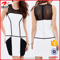 Wholesale Sexy Fashion Mesh Splice Tunic Ladies Western Dress Designs