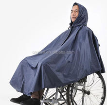 Yanli 100% Waterproof Disabled Wheelchair Poncho Raincoat For Adults/Rain Coat