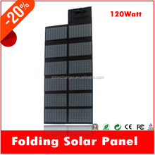 120W solar power tent for sale charge car battery and loptop