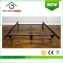 twin / full / queen Metal Bed with rug rollers & glides