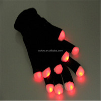 LED Gloves Rave light show fingers Colorful Lighting flashing high quality cheapest price hot sales for All party