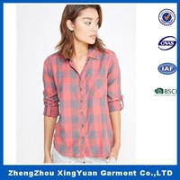 different color check pink blue red yellow flannel plaid shirt for men/women