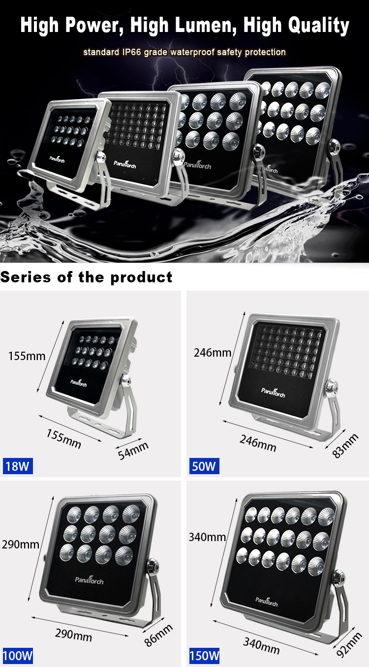 Panatorch hot selling Led Flood Light PT-JF701 different angles for big project