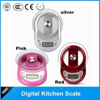 CE 5kg 1 g digital with timer pro chef kitchen scale