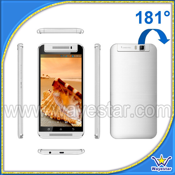 High Quality H7 Mtk 6572 mobile phone 1.2ghz dual core 180 degree rotatable camera Big touch screen 5.5''
