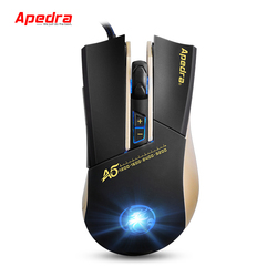 Apedra Wired Gaming Mouse 3200 DPI color Backlight Breath Gamer Mice for Desktop Laptop PC NoteBook in stock
