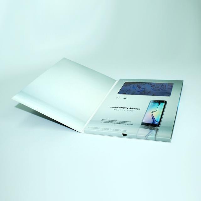 Custom Printed Food Grade lcd video player brochure lcd video mailer lcd video brochure card