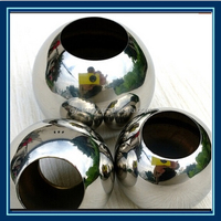 Hollow Polished Finished stainless steel ball with hole