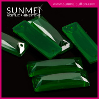 Wholesale High Quality Large Flatback Rectangle Acrylic Beads With Holes Crystals