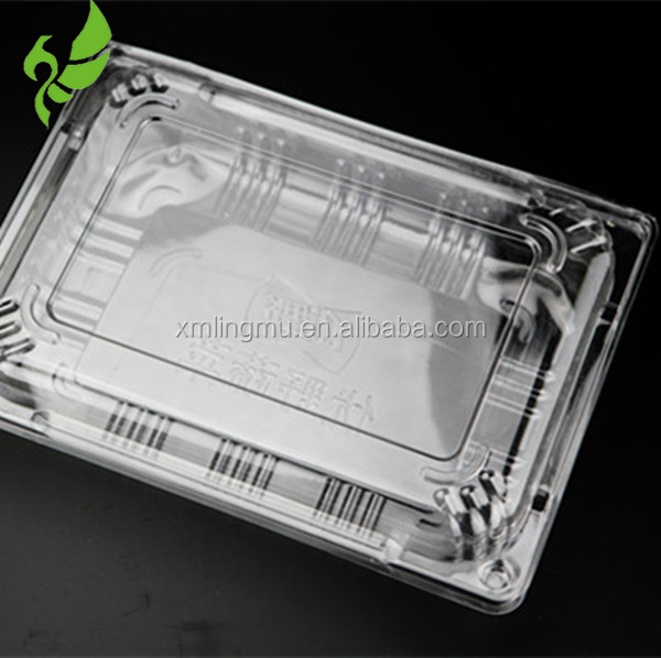 PET plastic material bowl tary blister process type cheap frozen meat box for sales