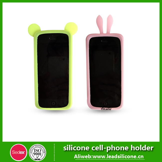 2015 Fashion Lovely Rabbit Ear Silicone Mobile Phone Case/Cover