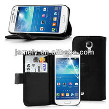 wallet leather case for samsung s4 mini i9190 free screen protector