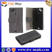 Notebook Style Leather Wallet Case for Sony Ericsson X12/Anzu/ XPERIA Arc