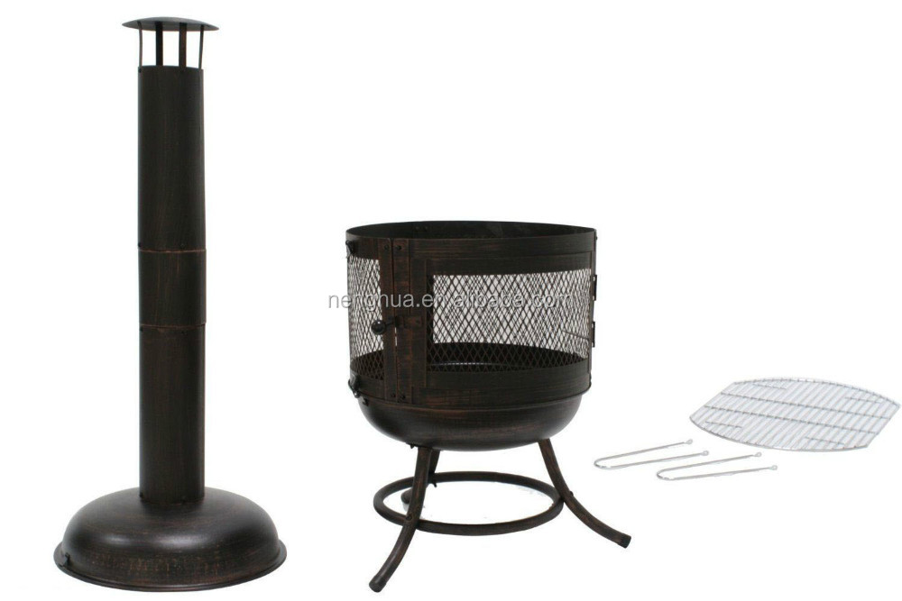 Outdoor Woodfire Long chimnea Fire Pit