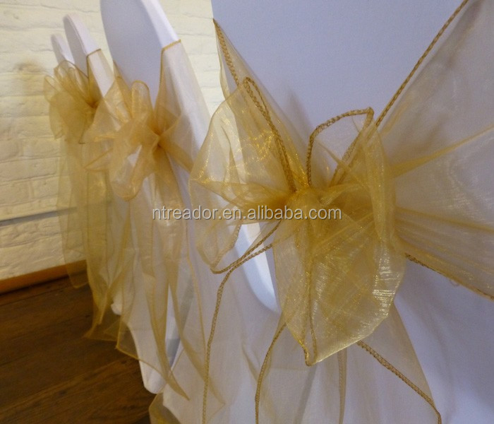 cheap organza chair sash/wedding organza chair sash/hot sale organza chair sash