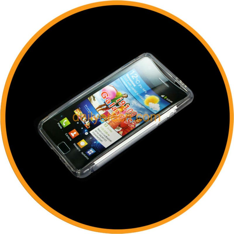 Transparent S-Shape TPU Case for Samsung Galaxy i9100 S2 II from dailyetech