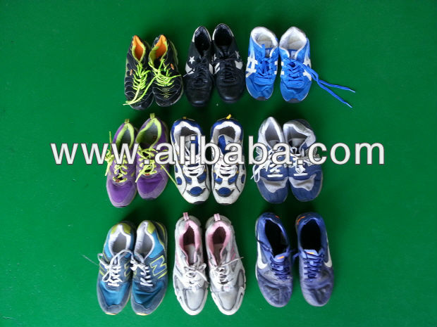 Used clothing. A grade Used Shoes (sports shoes) from Korea