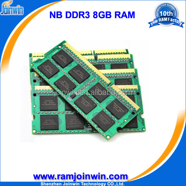 Taiwan manufacturing companies 8bits 8gb wholesale ddr3 ram for laptop