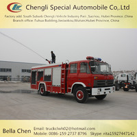 6 passengers DONGFENG fire truck, 4*2 new water tender fire truck
