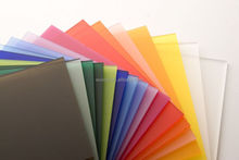 High quality colorful and transparent polymer sheets