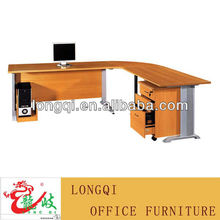 high quality modern style hot sale L shaped executive manager table new design large office desk with aluminium leg
