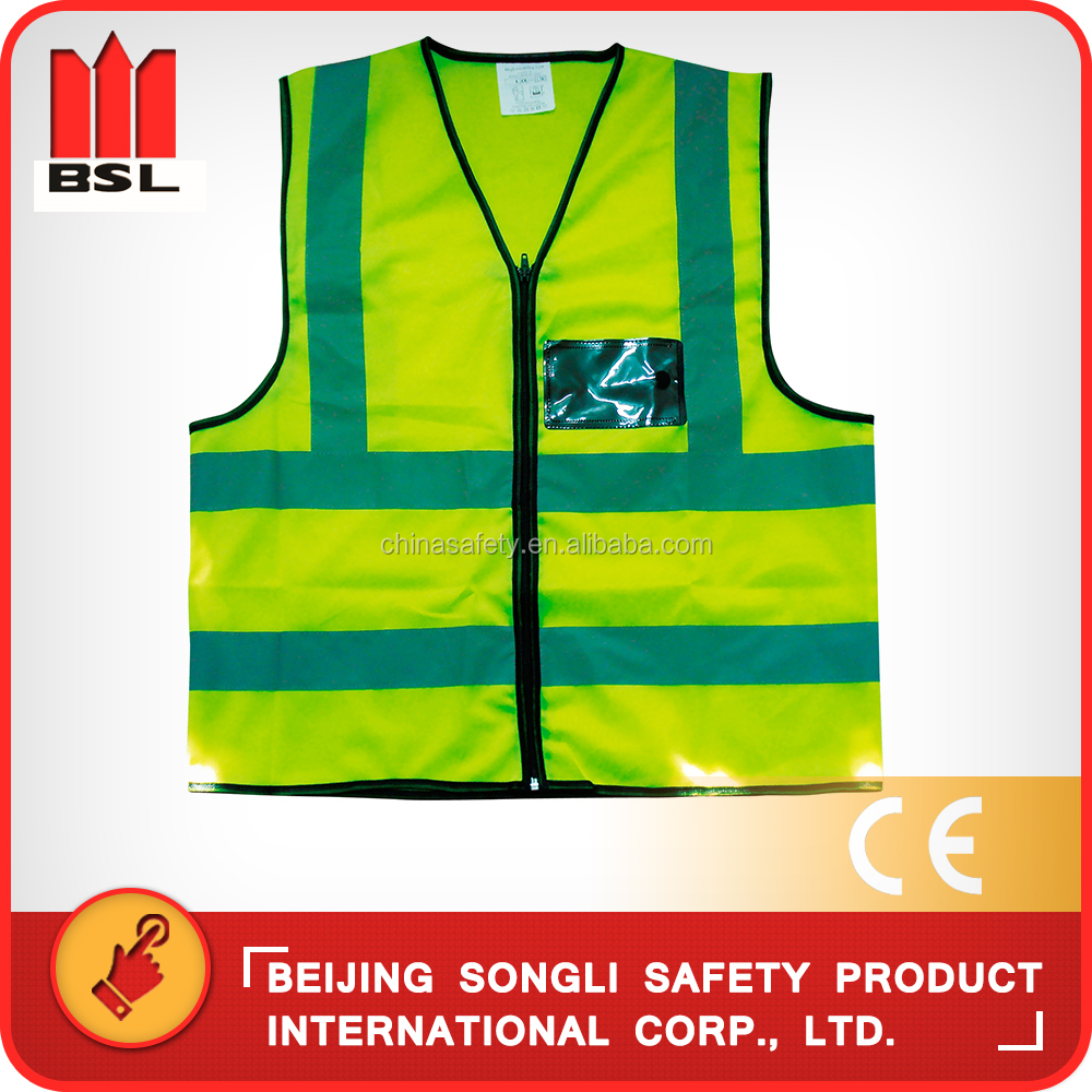 China Hot Selling top quality low price SLJ-V005 construction traffic police polyster reflective safety vest
