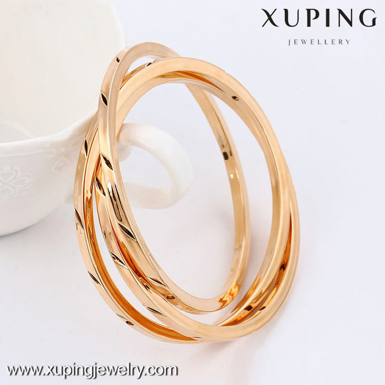 51436- 2016 Xuping Jewelry Fashion 3 pcs/Set Multi layer Gold Plated Bangles