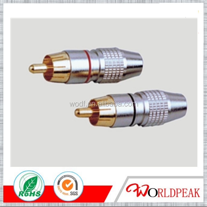 High Performance 100% Copper RCA Connector