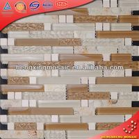 KS156 Ocean World Series Mosaic Mother of Pearl Strip Tile Marble Stone Mosaic