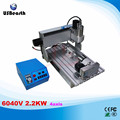 Newest 6040V 2.2KW 4axis mini cnc engraving machine with VFD limit and 2.2KW VFD water cooling spindle wood lathe