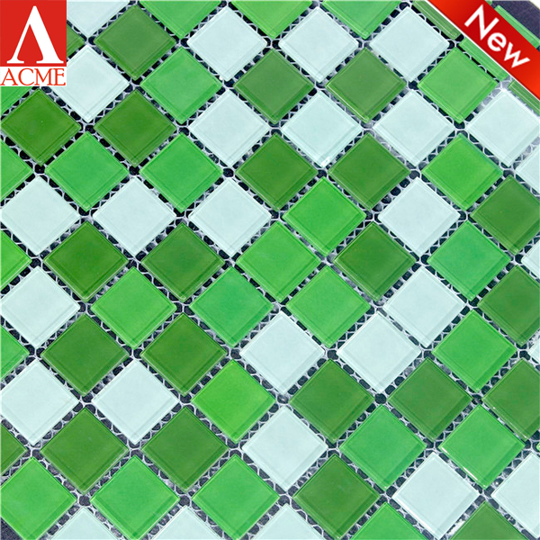 cheap glass mosaic patterns for swimming pool tile made in china
