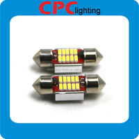 Car Assessories Ultra Bright T10 Led 10smd 31mm Pure White C5w Festoon Dome Light With Canbus Error Free