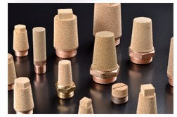 B type Brass Air Muffler Sintered Silencer
