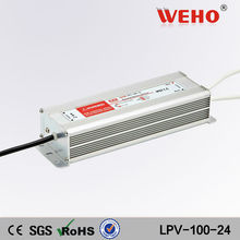 China manufacturer of waterproof led drive 100w 24v switching strip power supply 4.3a 24v lpv-100 smps