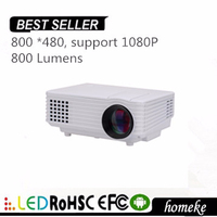 High Brightness 800 Lumens HOME333 mini home theater LED PC&Laptop VGA/USB/SD/AV/HDMI digital portable Mini Proyector