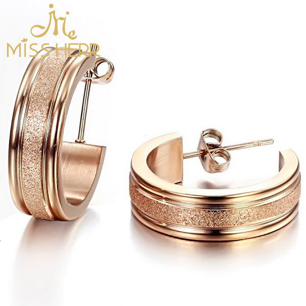 Updated best sell stainless steel earrings jewelry