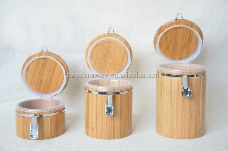 Bamboo canister/bamboo jar/seal pot 2014 kitchenware caviar container, bamboo caddy, Tea canisters