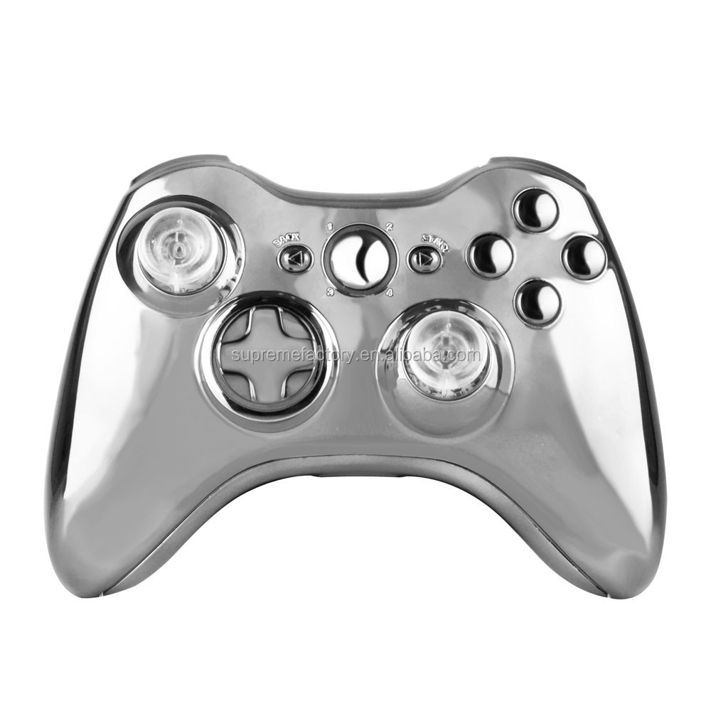 Chrome Housing Shell with Tool Replacement For Xbox 360 Wireless Controller Gamepad
