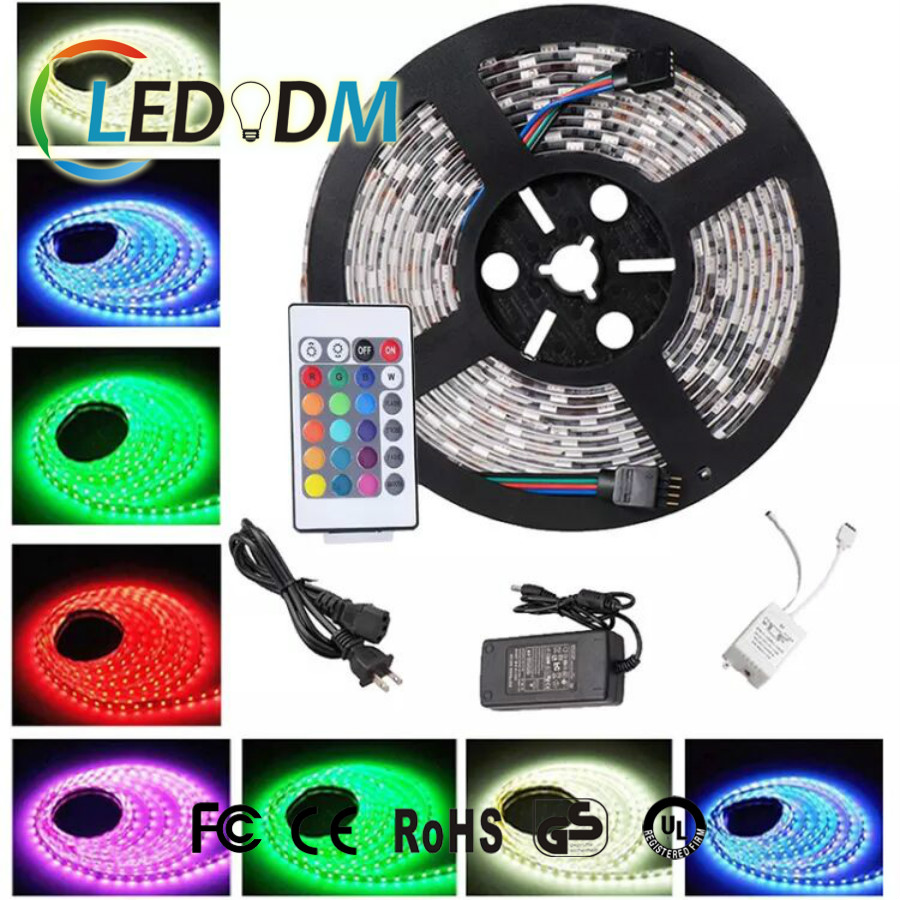 SMD 5050 12v Blister Packing 60leds/m RGB Led Strip With Remote Controller