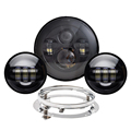 "best quality 7"" led motorcycle headlight 4.5"" 4.5 inch fog light for Harley"