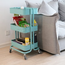 Powder coated cheap price hair salon trolley cart bathroom/kitchen trolley with wheels