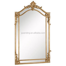 Antique gold Curved, metal frames wall mirror/home decoration