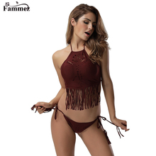 Stylish tassels design swimsuit bikinis woman swimwear canada wholesale