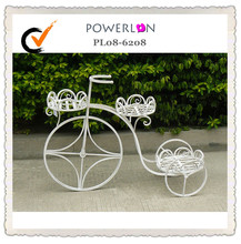 Metal Wrought Iron Bicycle Planter Stand