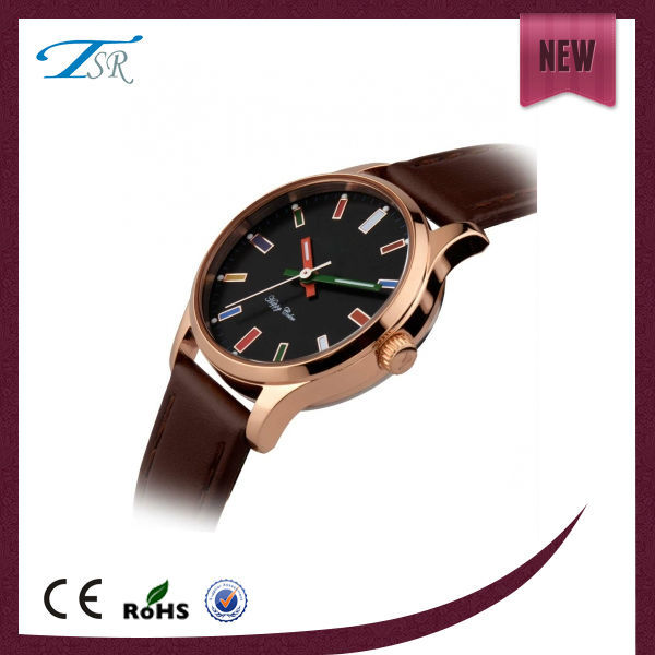 2017 Unique design mens watch rose gold plating popular in Europe with customer logo