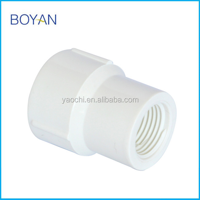 BOYAN supply White Plastic Pipe fitting PVC BS FEMALE REDUCER