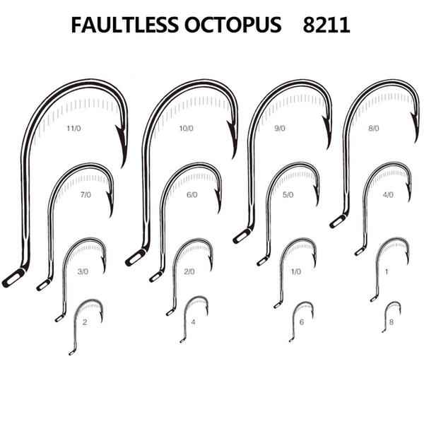 2015 newest superior quality FAULTLESS OCTOPUS custom fishing hook
