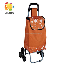 Wholesale foldable market vegetable shopping trolley cart, Lightweight Shopping Bag trolley With Wheels hot sale